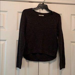 Dark gray crew neck sweater